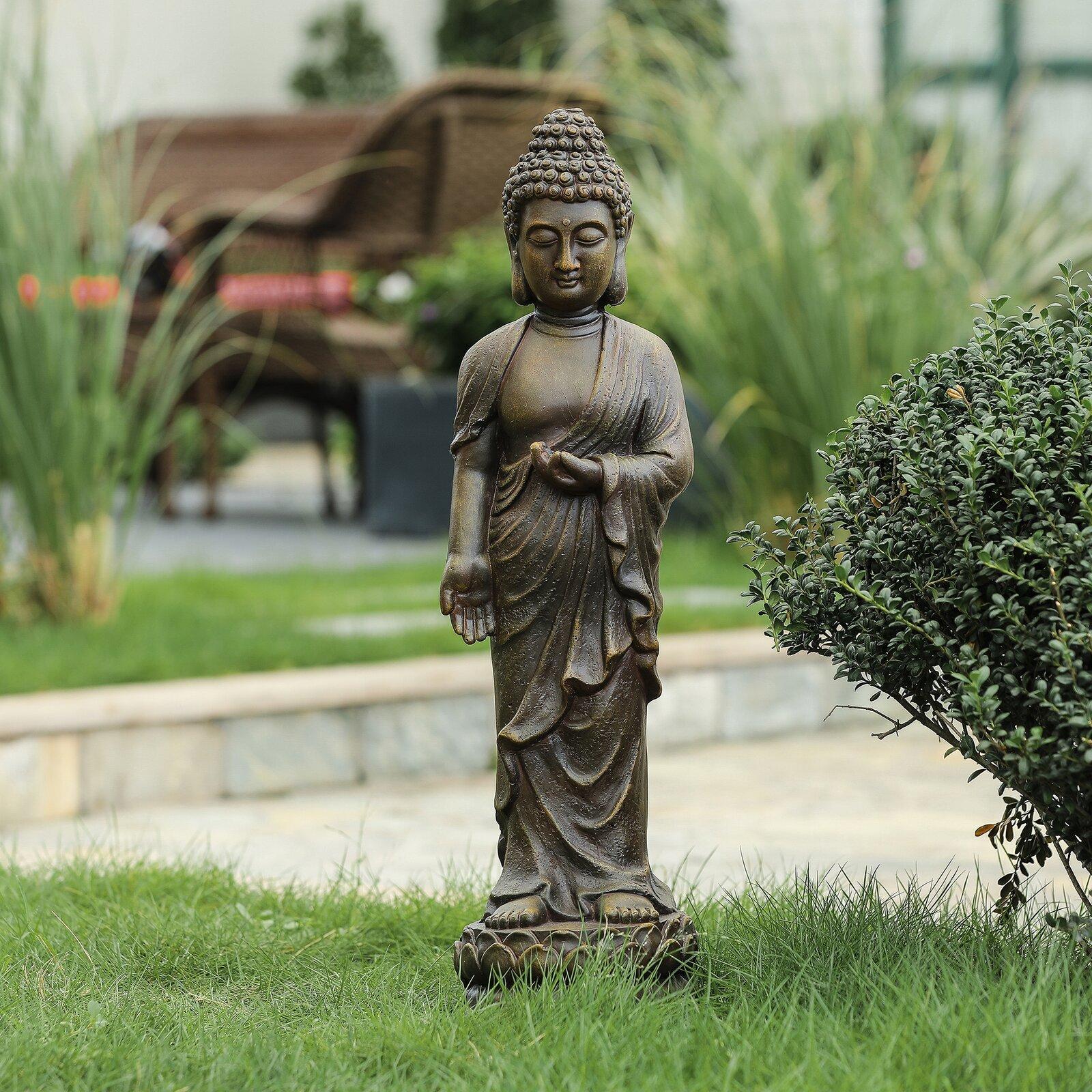 standing-buddha-statue-lightweight-small-garden-decoration-ideas-for-spiritual-decor