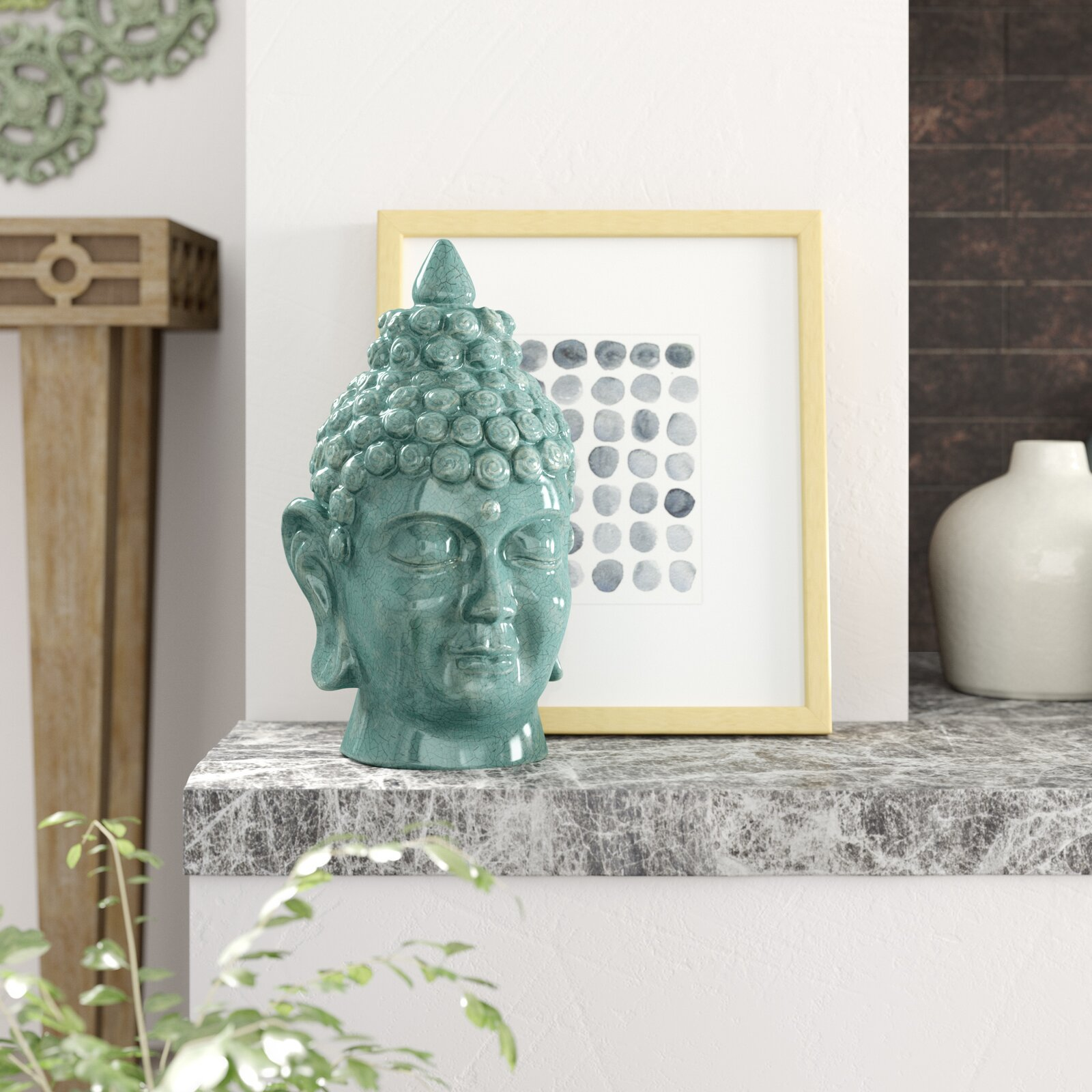 teal-buddha-head-statue-glossy-ceramic-sculpture-13-inch-height-modern-spiritual-decor-for-inner-peace-and-tranquility