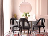 unique-upholstered-nailhead-dining-chairs-open-back-gold-capped-feet-tapered-legs-creative-glam-dining-room-furniture