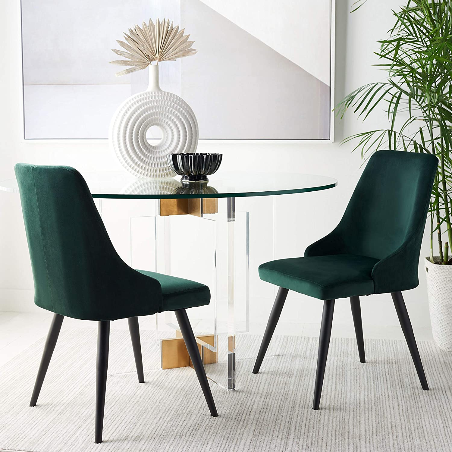 velvet-green-upholstered-dining-chairs-high-backrest-tapered-black-legs-sophisticated-colorful-dining-room-furniture-for-sale-online