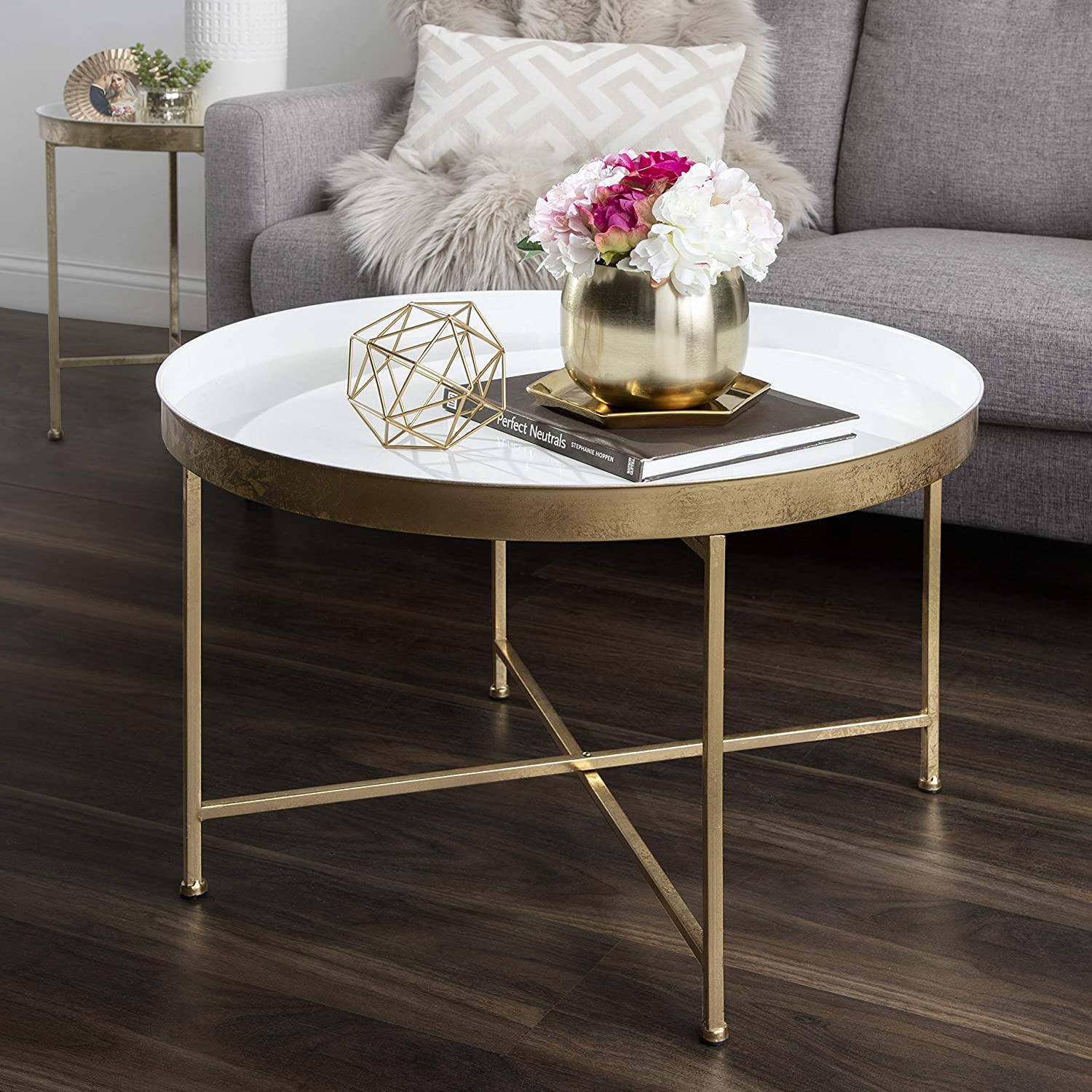 vintage-inspired-white-gold-coffee-table-gilded-x-shaped-base-white-tray-top-hollywood-glam-furniture