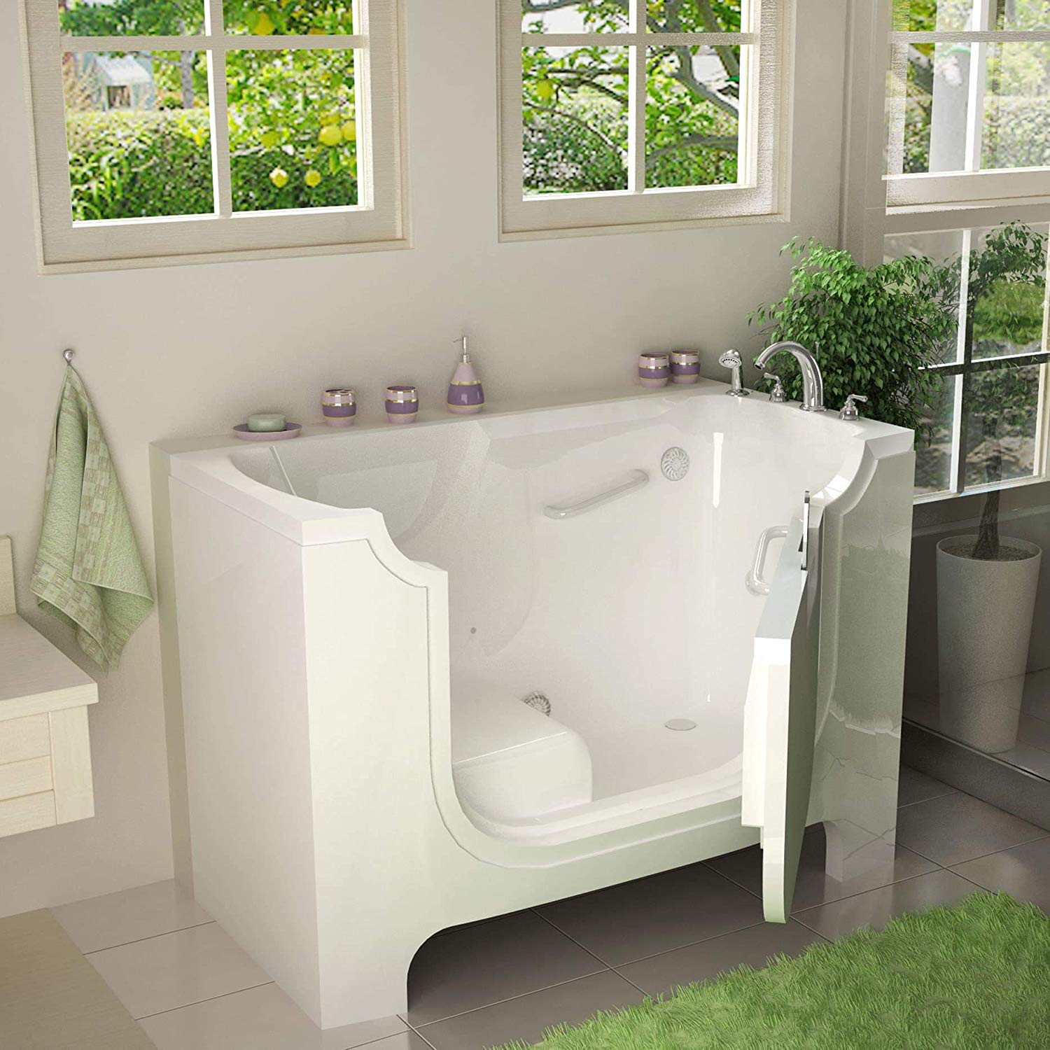wheelchair-accessible-walk-in-bathtub-with-safety-rails-and-hydrotherapy-air-jets
