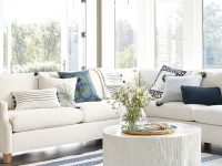white-circle-coffee-table-unique-coastal-decor-log-texture-with-clamshell-veneer-tabletop-beautiful-nautical-beachy-furniture