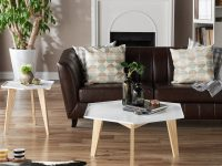 white-coffee-table-and-end-tables-set-geometric-hexagonal-tabletop-design-with-tapered-natural-wood-legs