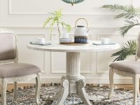white-farmhouse-dining-table-classic-furniture-design-French-country-decor-distressed-finish-round-top
