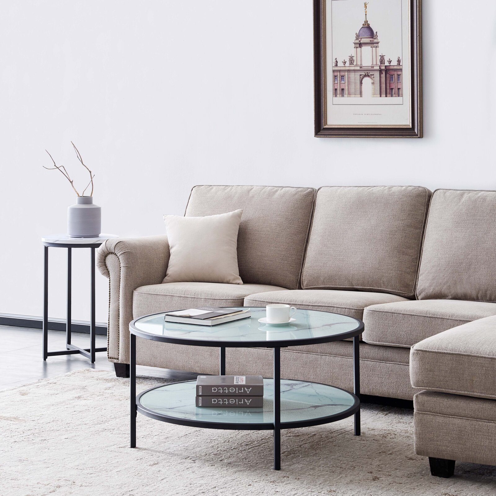 white-glass-coffee-table-with-faux-marble-look-unique-durable-living-room-furniture-designs-for-modern-decor