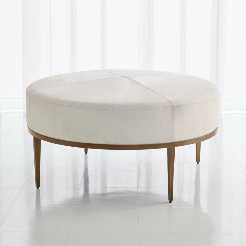 white-leather-coffee-table-handcrafted-living-room-furniture-luxury-hair-on-hide-brass-tapered-leg-base-hollywood-glam-decor