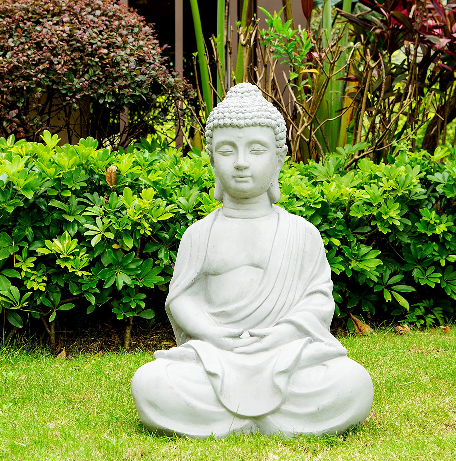white-outdoor-buddha-statue-25-inch-tall-concrete-and-fiberglass-weather-resistant-meditating-decor-housewarming-gift-idea