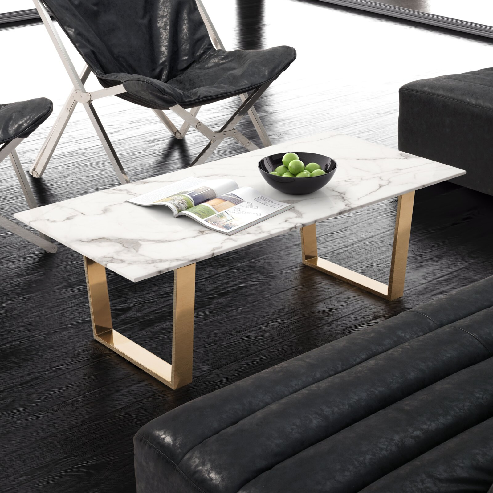 white-stone-coffee-table-marble-look-gold-sled-base-glamorous-furniture-ideas-for-modern-living-room-themes
