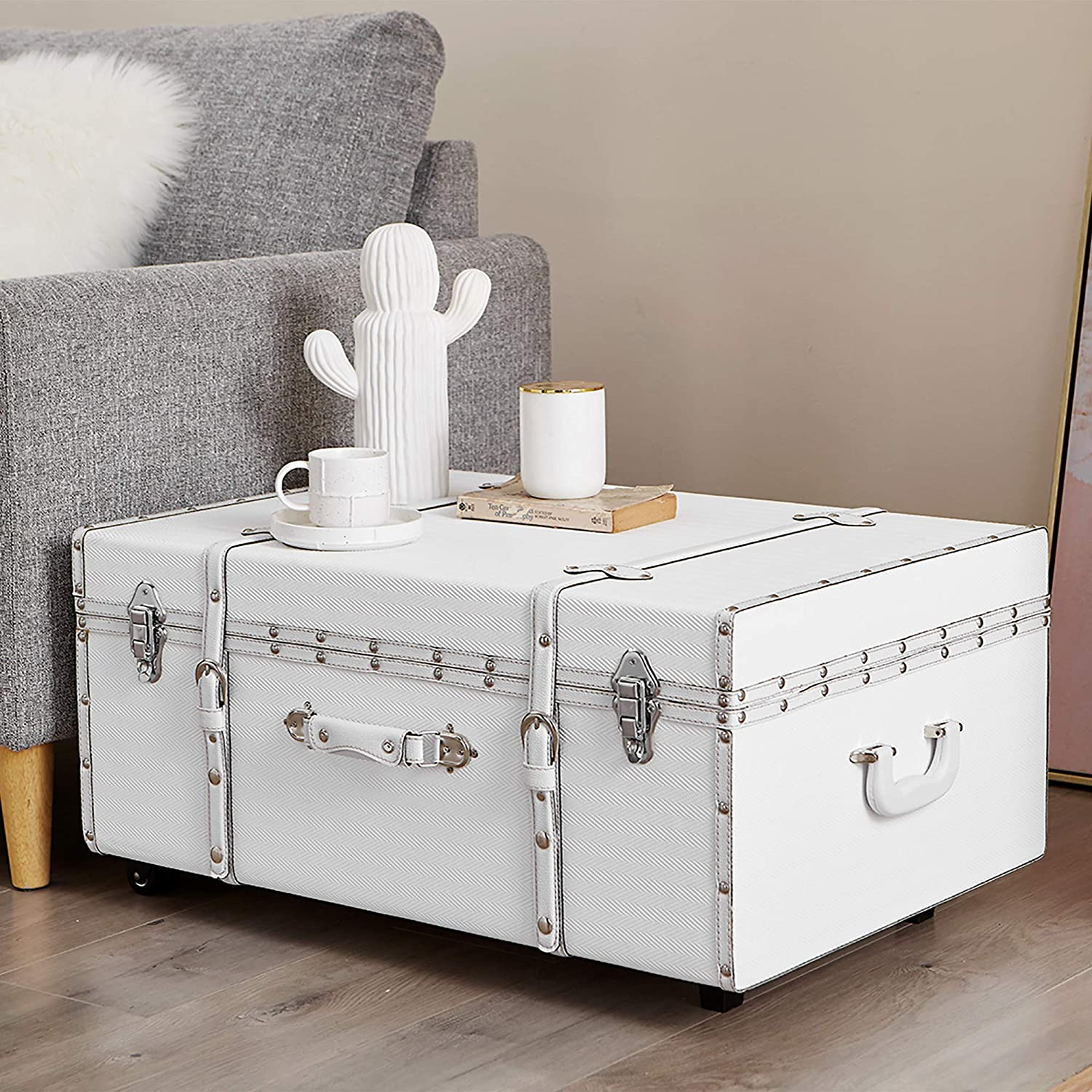 white-trunk-coffee-table-low-height-with-wheels-handle-padlock-stylish-storage-furniture-for-modern-bohemian-living-room-travel-decor