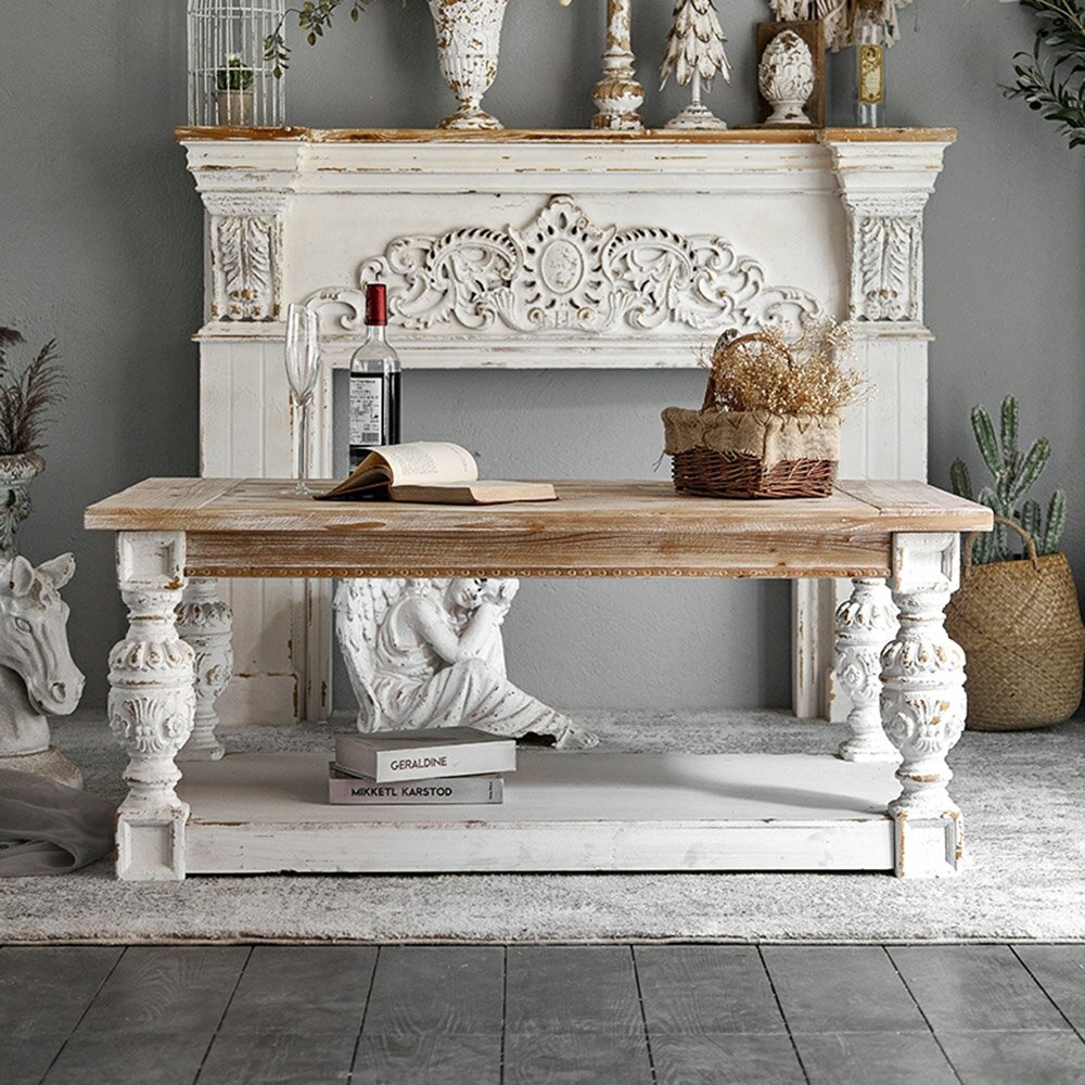 white-washed-wood-coffee-table-bohemian-chic-living-room-decor-cottage-furniture-rustic-farmhouse-design-ideas