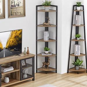 tv stand and corner shelf