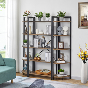corner bookshelf 5 tier