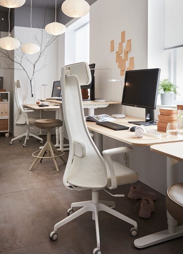 IKEA-white-office-chair-with-high-back-adjustable-lumbar-support-and-headrest-armrests-white-base-and-wheels-affordable-high-quality-home-office-furniture