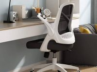black-and-white-office-chair-for-small-spaces-mesh-back-folding-armrests-white-base-unique-spacesaving-work-from-home-furniture