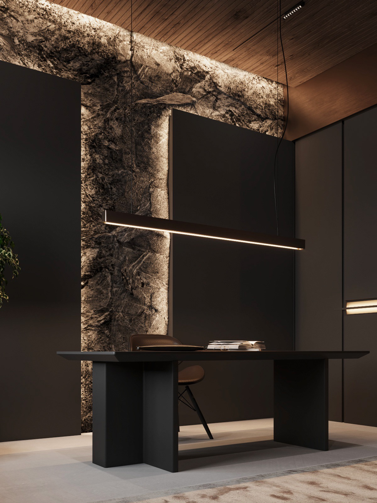 black-home-office