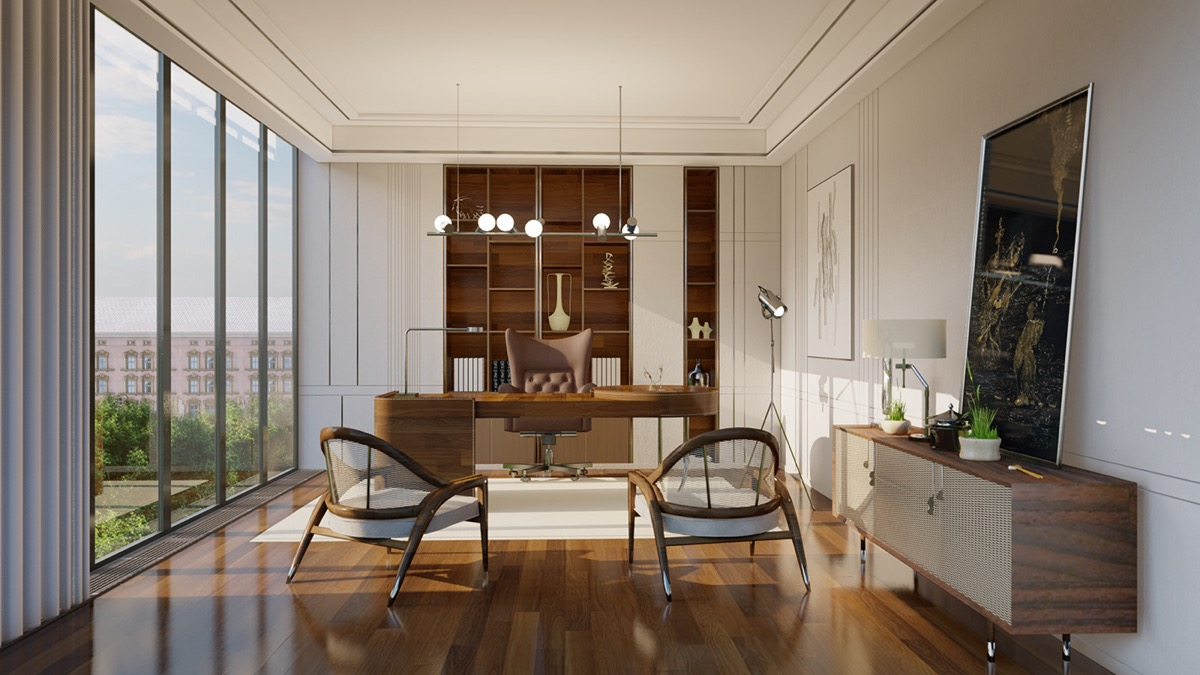 brown-and-cream-home-office-design