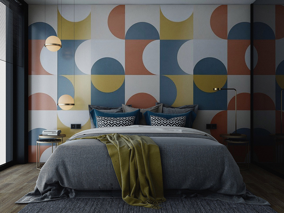 colourful-bedroom-feature-wall
