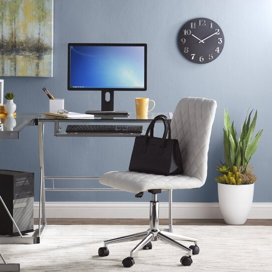 comfortable-tufted-white-office-chair-armless-design-faux-leather-upholstery-chrome-base-space-saving-home-office-furniture
