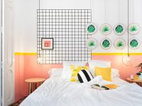 coral-and-yellow-bedroom