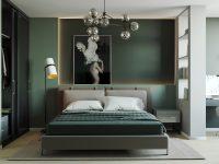dark-green-bedroom