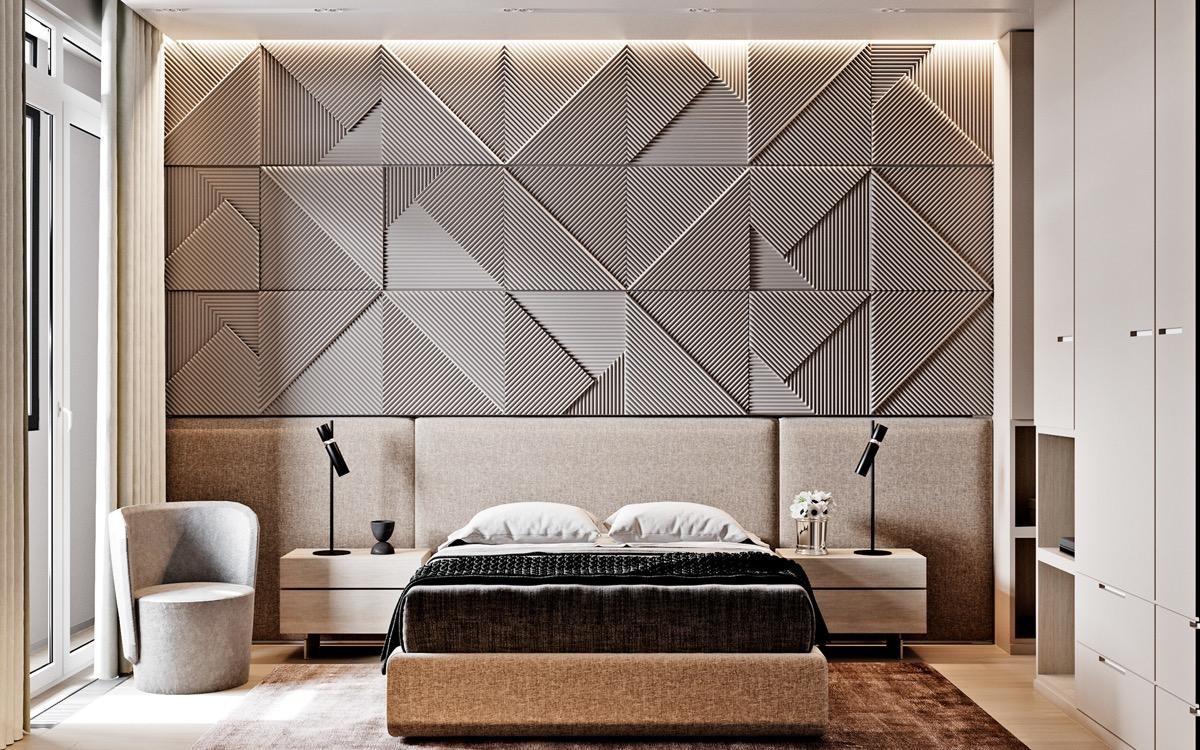 geometric-headboard-feature-wall