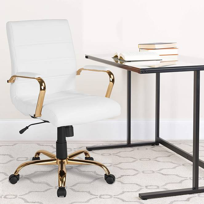 gold-and-white-office-chair-glam-themed-workspace-for-remote-work-from-home-furniture