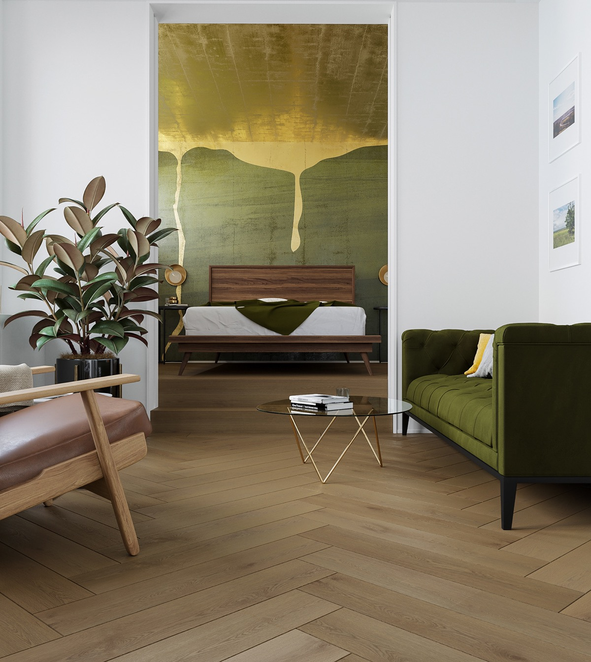 green-and-gold-bedroom
