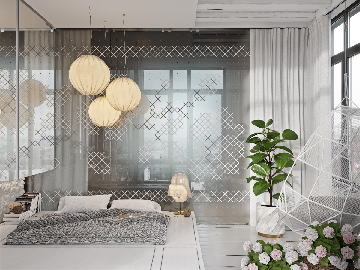 grey-and-white-bedroom