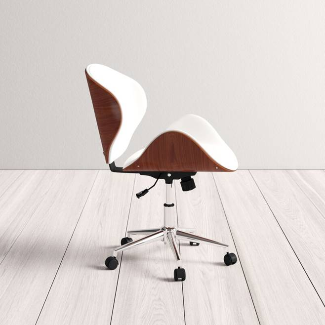 mid-century-modern-white-office-desk-chair-faux-leather-with-wood-back-chrome-base-decorative-work-from-home-furniture-inspiration