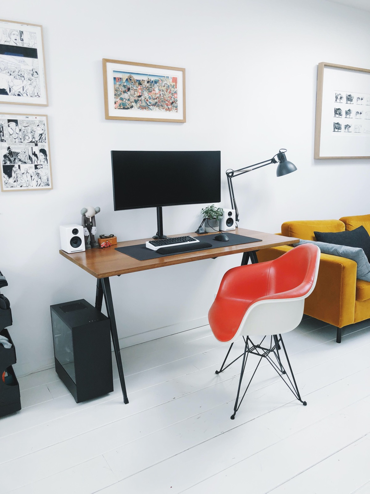 red-Eames-style-armchair