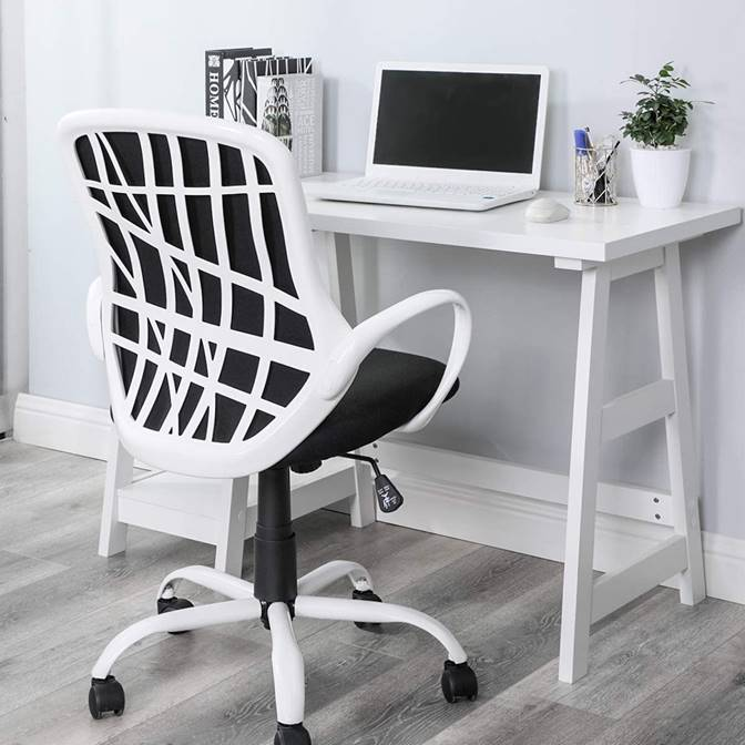 unique-modern-white-and-black-office-chair-for-home-workspace-attractive-mesh-back-computer-chair