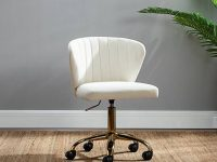 white-tufted-office-chair-with-gold-base-unique-glam-art-deco-work-from-home-furniture-design-ideas