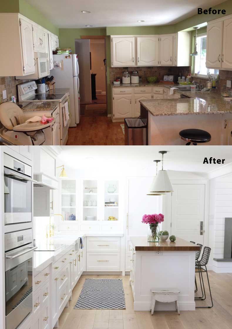Inspirational Remodeled Kitchens before and after Photos